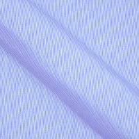 Wrinkle Free Egyptian Cotton in tight stripes