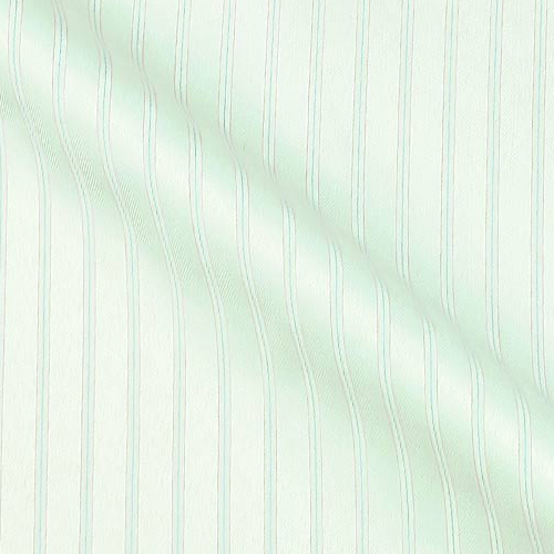 Sea Island Cotton in Gloss Herringbone with Dotted stripes on white
