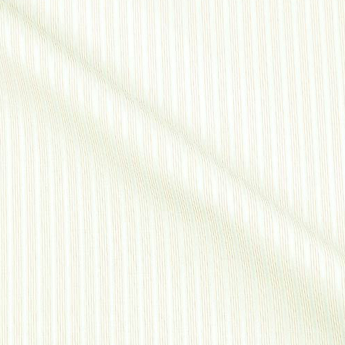 Luxury Silver Satin Cotton with Soft Continental Stripes