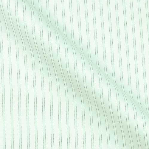 Luxury Sea Island Cotton with alternating subtle Stripes and Herringbone