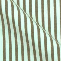 Cotton Shirting in Bold Stripe On White