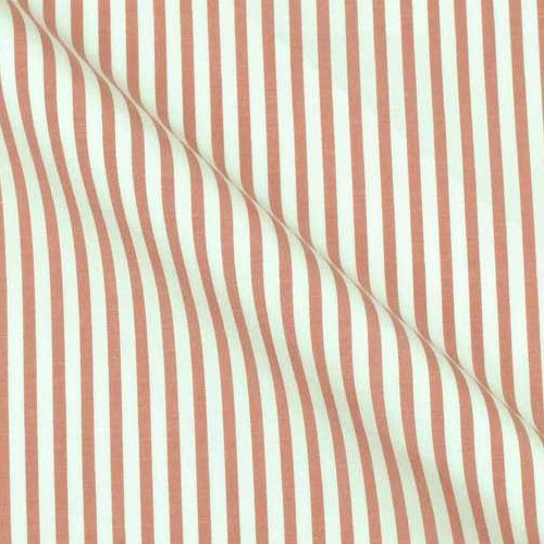 Super Pure Cotton Stripe on White from Italy
