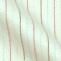 Pure Cotton Fabric with Prince Edward Stripes on White