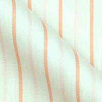 Pure Cotton Broadcloth In Bold Continental Stripe On White