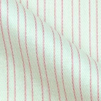 Easy Care Twill Cotton Fabric In High Street Stripes On White