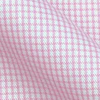 Pure Cotton Broadcloth in Modern Micro Tattersall Checks on white