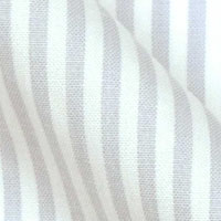 Egyptian Pinpoint Oxford Cotton in Traditional Executive Stripes on White
