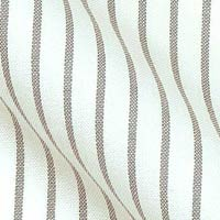 Egyptian Pinpoint Oxford Cotton in Bankers stripe on white