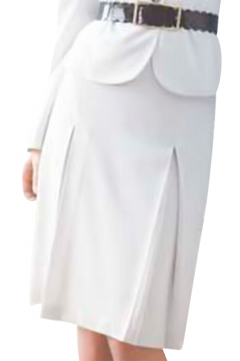 This handmade white skirt is one stylish office apparel that comes with two closed perma pleats on the front and belt looped waistband. Order it to be precisely crafted with wool and or cashmere, this A line skirt can also be made to measure in wrinkle free fabrics.
