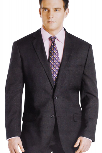 A stylishly elegant custom tailored suit with single breasted two button suit jacket with pressed notch lapels, paired with handmade reverse pleat suit pants.