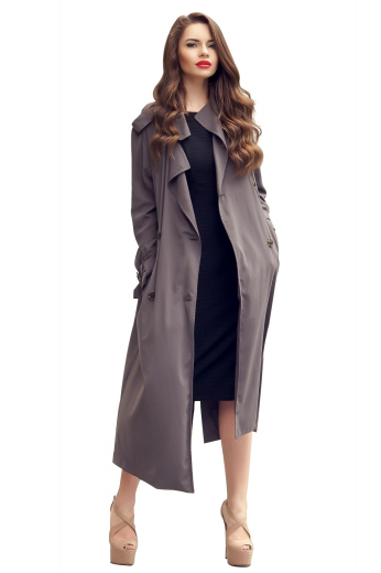 This flattery womens custom made chocolate brown wool overcoat is a stunner from the range of formal garments at My Custom Tailor. This affordable womens tailor made calf length chocolate topcoat has neatly stitched hand moulded shoulders and 2 on-seam lower pockets. This womens tailor made loose fit brown overcoat also features a single breasted pattern. You can wear this womens tailor made chocolate brown wool topcoat to office events and corporate parties for a stunning look.