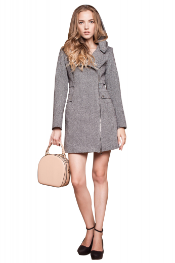 This beautiful womens custom made grey wool overcoat is an elegantly hand sewn garment that you can wear to work and meetings. This womens tailor made slim fit grey topcoat has beautifully hand moulded shoulders and ends just above the knees. This womens bespoke double breasted overcoat also features 2 lower pockets with flaps and a side zipper on the left for closure. You can buy this trendy womens custom made wool topcoat at My Custom Tailor at super affordable rates.