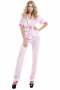 Salmon pink silk pyjamas incorporating comfortable slim cut custom shirts having short sleeves with cuffs, one flapped upper pocket and squared bottoms, and full length bespoke pants with elastic waistbands and cuffed bottoms.