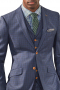 Mens Made To Order Slim Fit Three Piece Suit