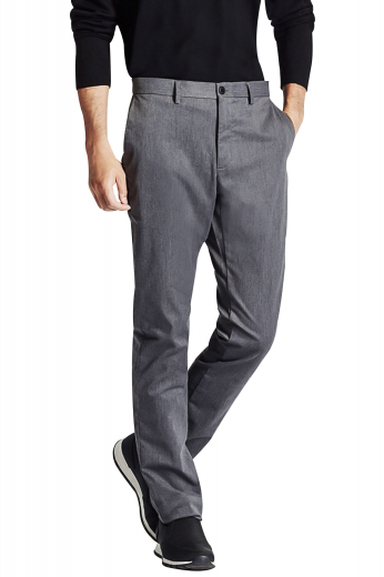 These mens handmade slim fit dress pants in flannel wool are perfect for board meetings and interviews. Fabricated to ensure all day comfort at work, these mens handmade light grey slacks feature extended belt loops, a 2 point button and hook closure, and a zip fly. These mens tailor made flannel wool dress pants also display 2 front slash pockets, 2 back pockets, and elegantly hand stitched cuff hems. Buy these mens bespoke dress pants at My Custom Tailor to update your wardrobe of handmade formals at affordable rates.