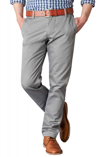 Wear these mens handmade slim fit cotton dress pants in light grey for a dapper look at work. Elegantly hand sewn to display a blend of style and comfort, these sophisticated mens custom made slim fit dress pants have stunning hand sewn cuffs hems at the bottom, 2 front slash pockets and 2 back pockets, and a 2 point button and hook and a zip fly for front closure. Buy these exquisitely customised mens bespoke cotton dress pants at My Custom Tailor to get a hang of luxury like you've never known before.