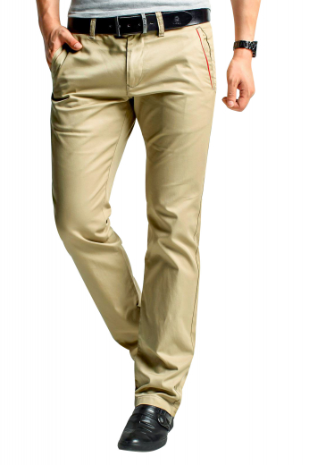 These mens handmade slim fit cotton slacks in camel are perfect formal wear for office and corporate events. With a flat front that features 2 slash pockets, these mens custom made slim fit dress pants will keep you comfortable all day long. These mens tailor made cotton pants have extended belt loops, 2 back pockets, a 2 point button and hook closure, and a zip fly. Be the ultimate trendsetter at work by wearing these iconic mens bespoke cotton slacks available at My Custom Tailor at unbelievably low prices that you'll love.