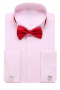 With stylishly elegant squared edge French cuffs this tuxedo shirt is a fashion-forward statement piece. This cotton candy pink men's handmade placket front tuxedo shirt is a must-have.