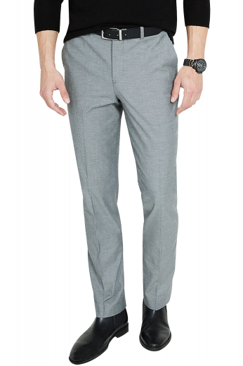 These mens handmade light grey dress pants are perfect for you if you like to keep things subtle and classy. These mens tailor made suit pants in cotton feature 2 back pockets and an iconic flat front. You can wear these mens bespoke slim fit dress pants with extended belt loops to work and meetings. With a 2 point button and hook closure and a zipper fly, these formals will keep you breezy. Buy these mens bespoke slacks at My Custom Tailor to include them in your wardrobe of premium quality mens formals at affordable rates.