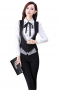 Womens Bespoke Slim Fit Black Pant Suit
