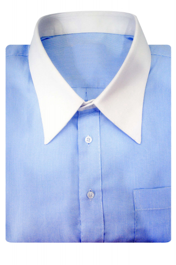 This stunning mens handmade light blue cotton shirt with a placket front and plain back is a summer treat for men who prefer comfort and style both. With a European narrow forward point collar and 2 3/4 inch white collar points, this stylish mens tailor made shirt can be worn to work, interviews, and board meetings. This mens custom made shirt also features neatly sewn white cuffs that add grace to the entire attire. Wear this custom shirt to experience the true joy of dressing royally.
