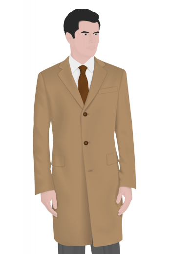 A single breasted men's hand tailored formal coat with a slim cut that is universally flattering. This vintage coat also features a stunning three-button design, notch lapel, center vents, standard welt pockets and flapped lower pockets.
