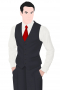 A slim cut single breasted men's vintage waistcoat that is skillfully made to measure just for you in a striking shade of black. This classic waistcoat is made up of features such as a v-neck with no lapels, a cloth back with an adjustable buckle, welted lower pockets, and a classic five button design. Paired with any formal suit, this vintage waistcoat will look sharp.