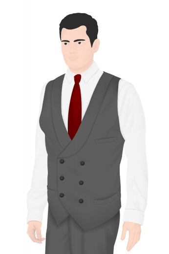 Check out this custom made men's vintage six button vest with a three button closure. This sophisticated bespoke men's waistcoat is an elegant piece that features a medium gorge, a classic v-neck, a timeless shawl collar and so many more other features to give you that grand and stylish look.