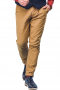 This men's bright khaki pant is tailor made in a fine wool blend and cut to a slim fit, featuring slash pockets, belt loops, and a flat front pleat.
