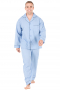 This men's blue pajama set is tailor made in fine silk and satin and cut to a comfortable fit, featuring handsewn cuff hems. It is a luxurious and cozy nightwear option that you will love to wear to lounge and sleep in.