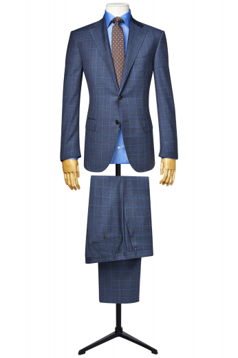 This men's suit set is tailor made in a wool blend, with a slim cut featuring a single breasted button closure. It is perfect for all occasions.