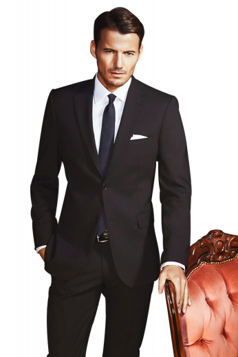 This suit set is tailor made in a wool blend, perfect for all formal occasions. It features slash pockets, a single breasted button closure, and notch lapels.