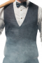 This slim cut men's vest is tailor made in a wool blend featuring a single breasted button closure. It features a v neck and flapped lower pockets, perfect for all occasions.