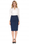 This pencil skirt is beautifully custom made to suit your style. With a zipper closure and a modest center back vent, it will keep you sleek and stylish all day.