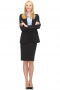 This A-line knee length Skirt suit is custom made to fit you perfectly! With a classic single breasted blazer closure and notch lapels, this is a sleek and fashionable option for long days at the office.