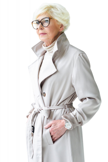 This classy coat will be your favorite for many seasons to come. Featuring a modern belt close, this custom made coat is a perfect warm and cozy fit that sits comfortably all the way to the knees.