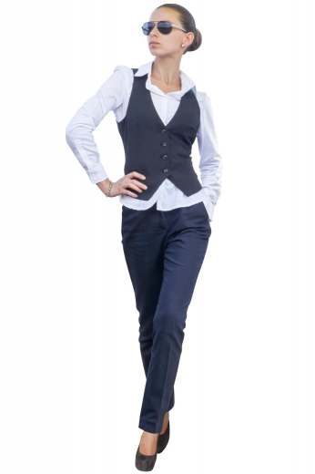 A perfect option for weekdays at the office, this made-to-measure vest features a three-button front in single breast style, slim-fitted with a v-neck and v-cut bottom.