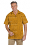Gold Rotary Four Way Test Shirt featuring Short Sleeves, Hawaiian Collar, Tucked Out Casual Wear