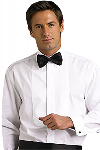 A made to measure men's wedding and dinner party dress shirt made elegantly stylish by its beautiful detailing and comfortable fit.