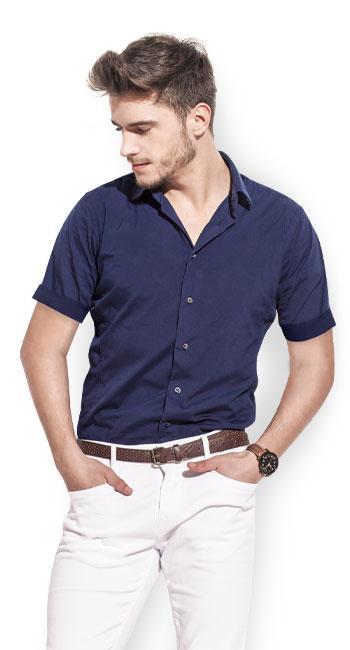 Mens Short Sleeved Shirts