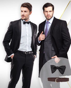 2 Overcoats, 1 Tuxedo, 1 Belt and 1 Bowtie from our Classic Collections