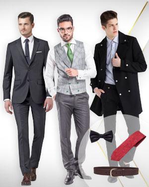 The Chicago Boys - 1 Coat, 1 Two Piece Suit, 1 Vest, 1 matching pair of Pants,1 Belt 1 Necktie and 1 Bowtie