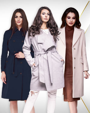 Winter Executive Wear Womens – 3 Topcoats and 2 Belts from our Womens DELUXE COLLECTIONS