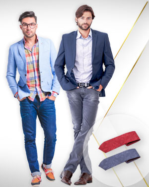 WeekEnd Deal - 2 Bespoke Jackets and 2 Custom Tailored Jeans 2 Neckties From Classic Collections