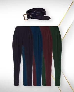 Summer pants offers – four pants 1 belt from our womens classic collections