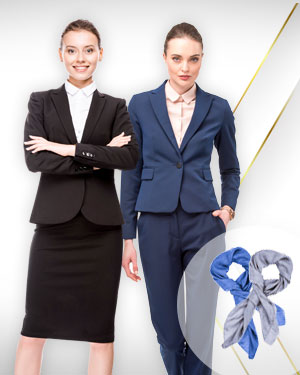 1 Pants Suits, 1 Skirts Suits and 2 Scarfs from our Classic Collections