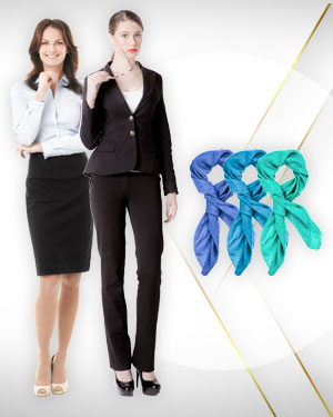 2 Womens Pants Suits, 3 Shirts and 3 Scarfs from our Classic Collections