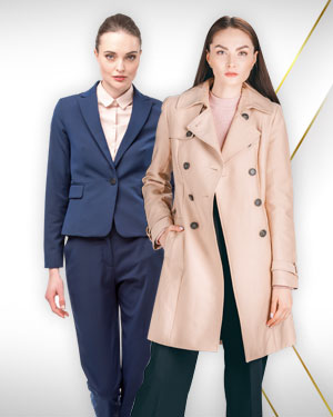 1 Cashmere Overcoat and 1 Pants Suit from Our Exclusive Collection and Get 2 Blouses FREE from our Exclusive Collection.