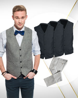 4 Vests plus 1 Pants from our Exclusive Collection