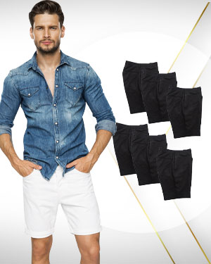 Mens Work From Home Custom Shorts - 6 in Package